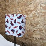 abat-jour tissu pas cher cache ampoule rectangulaire