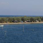 Fischer in der Lagune von Lâpseki