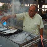 Didim - frischen Fisch auf den Grill