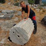 Priene - korinthische Säulen