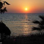 Sonnenuntergang am Ufer von Didim