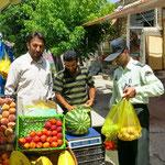 Straßenhändler in Takab