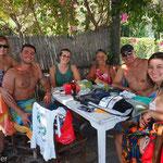 Kanadische Türken und Biker auf Heimaturlaub in Maziköy