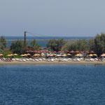 Strandleben auf der Lagune von Lâpseki