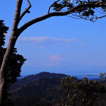 2017年1月22日撮影 桐山大 「茅塚からの富士山と江の島の眺め」 茅塚