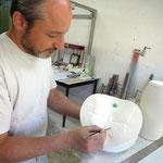 Ein echter Experte: Handwerker Pascal Rénard in Saint-Clément.
