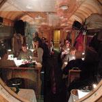 """Historischer Speisewagen """"Gormino"""" der Rätischen Bahn"""
