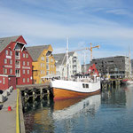 Am Hafen von Tromsø.