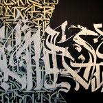 Writing city's hood details/ Des racine & des lettres / Participative palimpsest