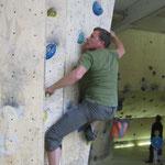 Fabian in Aktion (Boulderlounge Chemnitz)
