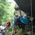 Klettern am Lohberg in Falkenstein / oberes Göltzschtal
