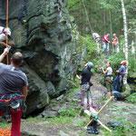 Mittwochstraining am Poppenstein, Geigenbachtalsperre bei Werda