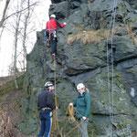 Zum Saisonstart klettern wir am Lochstein