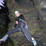 Nadine trainiert noch für Ihren Auftritt beim Felsballet