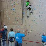 unsere Trainingsgruppe ist stark in der Kletterhalle des Sportparks am Untreusee in Hof vertreten...