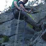Klettern an der Teufelskanzel bei Greiz