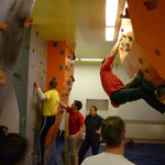 trainiert wurde an den senkrechten und überhängenden Wandbereichen