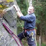 Klettern am Schwarzen Stein, Mittwochstraining, 05.10.11