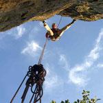 Sonntagsklettern am Nelkenstein im Klettergebiet Steinicht, Vogtland