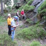 Heute ist die Reibungsplatte am Wendelstein unser Kletterziel.