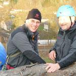 Peter und Henry an der Abseile des Lochsteins
