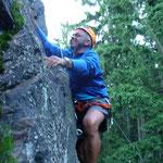 """Wolfgang möchte nicht nachstehen und klettert die """"Lady Gaga"""" hoch"""