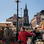 op de markt in Amersfoort