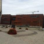 """""""Spezielle"""" Fassade eines Neubaus, der mit vielen anderen die grossräumige Entwicklung des Hafenareals prägt."""