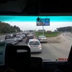Standartsituation auf den Strassen Moskaus