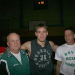 Mit meinen Heimtrainern Jens Hoyer (links) und Michael Sannek (rechts) bei den Hamburger Meisterschaften 2007