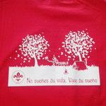 Playera cuello redondo roja serigrafia blanca cuernavaca