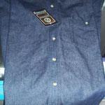 Camisola de mezclilla oscura manga larga