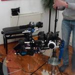 Kameraaufbau in der Praxis Herminengasse - (c) Heike Linamayer