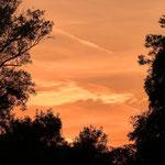 Sonnenuntergang beim Foto-Walk im Prater