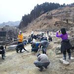 在郷:慈眼寺の清掃瓦礫撤去2012.3.30