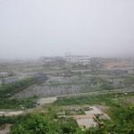 折立の五十鈴神社より戸倉小学校の眺め