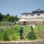津の宮:天女塚周辺の草取り2012.6.27