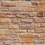 unregelmäßiges Schichtenmauerwerk, Stöße und Lager nachgearbeitet, Stärke: 6-20 cm - Einband: 10-15 cm