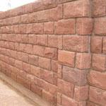 Mauersteine bossiert