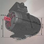 B3/14 kl Fuß/Flansch-Motori