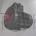 B3/14 gr Fuß/Flansch-Motor