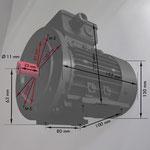 B3/14 gr Fuß/Flanschmotor