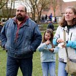 Der Henker der Üsenberger Landsknechte mit Familie (in zivil, also gefühlt ganz ohne)