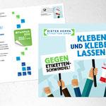 Mailing der Dieter Kempa Etiketten GmbH im Auftrag der semper smile Werbeagentur