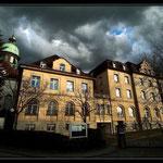 Erhabene Vorarlberger Landesbibliothek in Bregenz