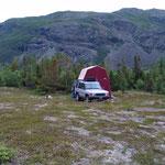 Campplatz in der Absoluten Wildniss