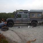 Jaaa... nach Korsika-Extrem-Tour  sind die Fahrwerksbuchsen und Radmitnehmer am Ende...