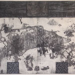 """the way to rate on wind"" woodblock intaglio,woodblock print h81cm X w108cm ed.3 2007"