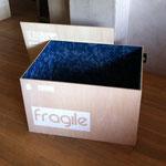 """fragile"" mixed media h45cm X w75 X d60cm 2015"
