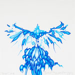 """bird"" silkscreen h21cm X w21cm ed.15 2011"